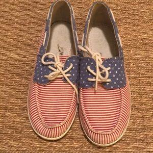 🇺🇸 Sanuk Patriotic loafers